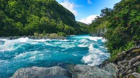 Petrohue rzeka, Puerto Varas, Chile zdjęcia stock