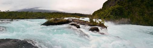 Petrohue waterfalls in Chile, Patagonia Royalty Free Stock Photography