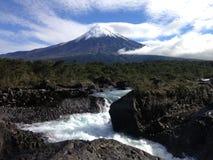 Petrohuedalingen van Patagonië Chili royalty-vrije stock afbeelding
