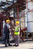 Petrokemisk chefarbetare Royaltyfri Fotografi