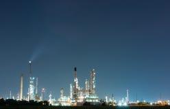 Petrokemisk industrianläggningkraftverk Arkivbild