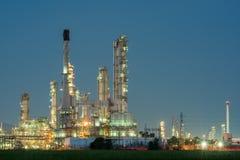 Petrokemisk industrianläggningkraftverk Arkivfoto
