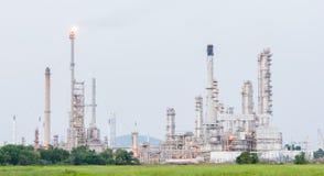 Petrokemisk industrianläggningkraftverk Fotografering för Bildbyråer