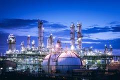 Petrokemisk växt arkivbild