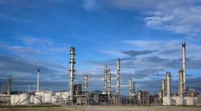 Petrokemisk växt Arkivfoton