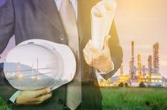 Petrokemiskt industriellt godsbegrepp Royaltyfri Foto