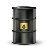 Petrol barrel with drop Royalty Free Stock Image