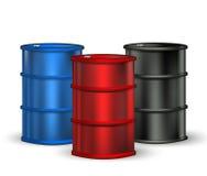 Petrol barrel on white Royalty Free Stock Photography