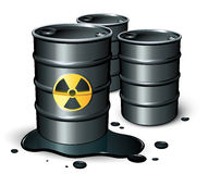Petrol barrels Stock Photos