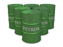 Petrol barrels in group Stock Images