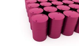 Petrol barrels on white background rendered Stock Images