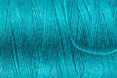 Petrol Blue Sewing Yarn Royalty Free Stock Photography