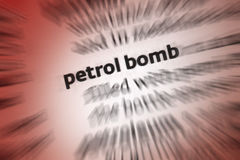 Petrol Bomb - Molotov Cocktail Royalty Free Stock Images