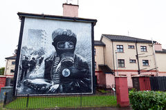 The Petrol Bomber mural in Derry Stock Photography