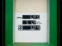Petrol Bowser Readout Stock Image