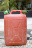 Petrol can. Red gasoline container Stock Photo