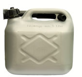 Petrol Can. 5 litre plastic petrol can Stock Images