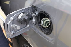 Petrol cap cover ready to fill up the fuel Royalty Free Stock Image