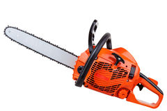 Petrol chain saw Royalty Free Stock Photo