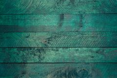 Petrol-colored wooden background texture.  royalty free stock photo