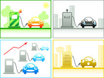 Petrol concepts Royalty Free Stock Images