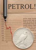 Petrol crisis. A concept image about petrol problems Royalty Free Stock Photos