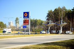 Petrol distribution company Statoil station in Vilnius city Royalty Free Stock Photography