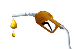 Petrol drop Stock Photo