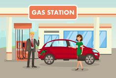 Free Petrol, Filling, Gas Station Vector Illustration Stock Photography - 146588392