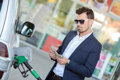 Petrol filling station Stock Photos