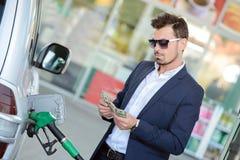Petrol filling station Stock Photos
