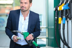 Petrol filling station Stock Images