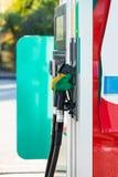 Petrol filling station. Colorful fuel oil gasoline dispenser at petrol filling station royalty free stock images