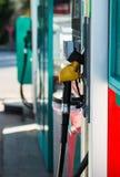 Petrol filling station. Fuel oil gasoline dispenser at petrol filling station royalty free stock image