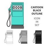 Petrol filling station.Oil single icon in cartoon style vector symbol stock illustration web. Petrol filling station.Oil single icon in cartoon style vector Royalty Free Stock Photo