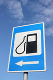 Petrol filling station sign. Royalty Free Stock Photography