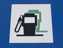 Petrol filling station signal Stock Photo