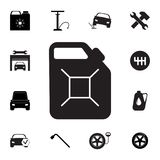 Petrol fuel canister icon. Set of car repair icons. Signs, outline eco collection, simple icons for websites, web design, mobile a. Pp, info graphics on white Royalty Free Stock Photos