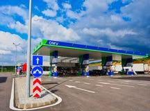 Modern Petrol Station in Rural Bulgaria. Petrol or gas pumps at a modern petrol or service station, rural Bulgaria royalty free stock photo