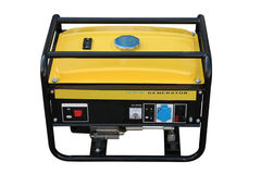 Petrol generator. The portable petrol generator of a current separately on a white background Royalty Free Stock Images