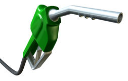 Petrol Handle And Nozzle Perspective Royalty Free Stock Photos