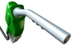 Petrol Handle And Nozzle Perspective Royalty Free Stock Image