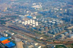 Petrol industrial zone Stock Photography