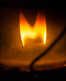 Petrol lamp flame Stock Image