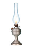 Petrol lamp on white Stock Photos