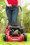 Petrol lawn mower Stock Photography