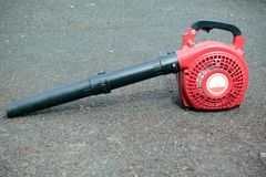 A petrol leaf blower. For clearing large amounts of fallen leaves royalty free stock image