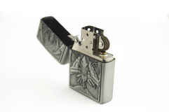 Petrol Lighter. New, factory engraved petrol lighter on white background Royalty Free Stock Image