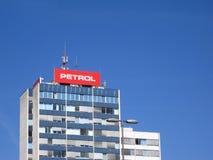Petrol main gas company in slovenia. LJUBLJANA, SLOVENIA - MARCH 22 2019: Petrol main building in ljubljana slovenia is biggest gas company in country royalty free stock images