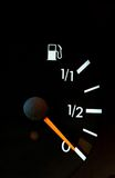 Petrol meter. Showing no gas in  the tank Royalty Free Stock Photos